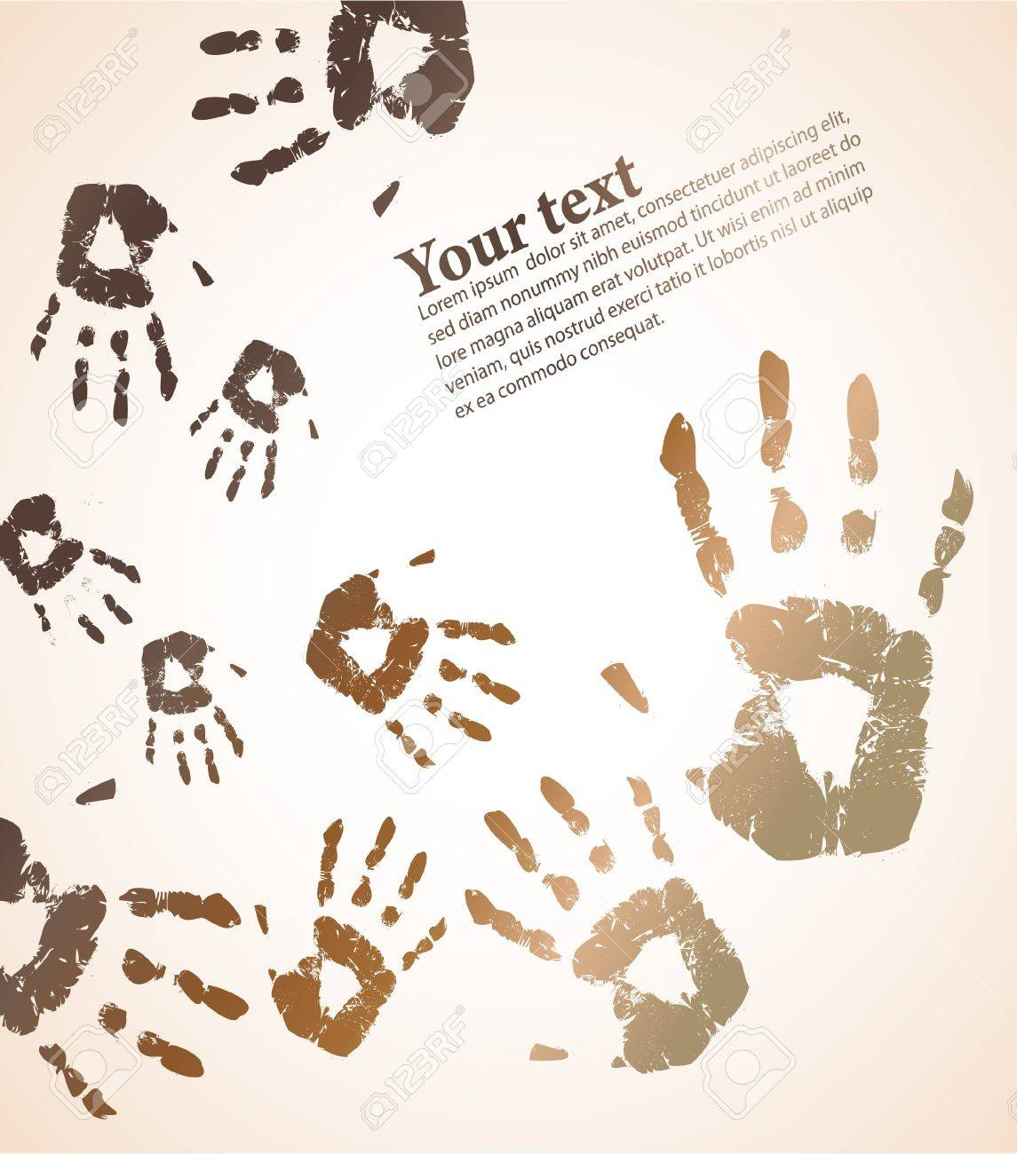 hand print color background Stock Photo - 7852650