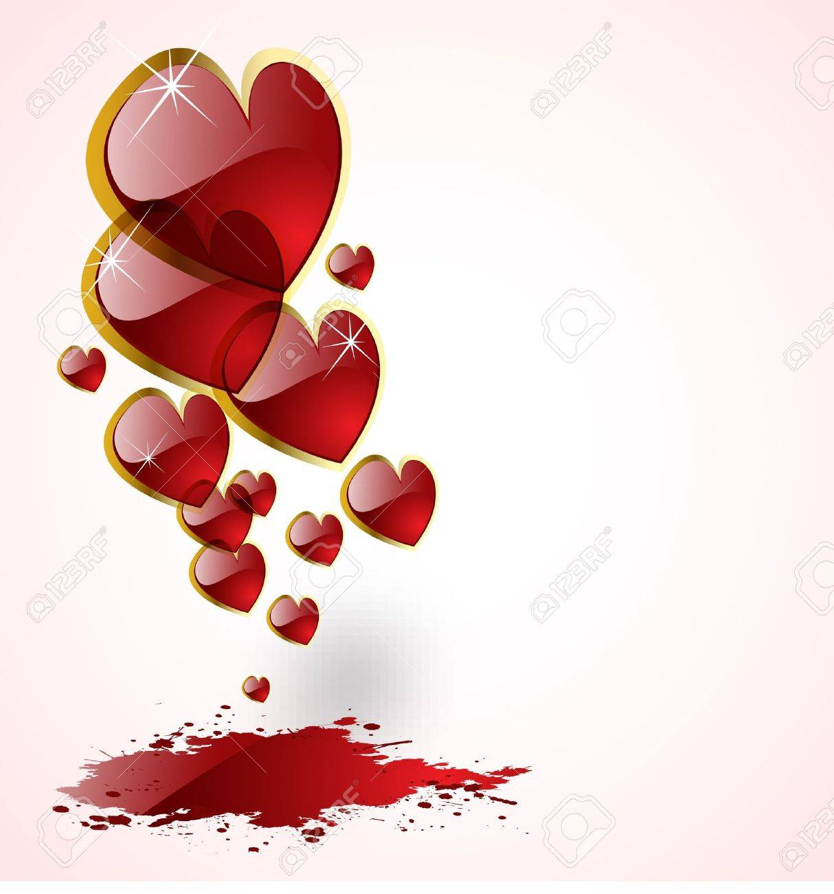 the vector abstract hearts background Stock Vector - 8982929