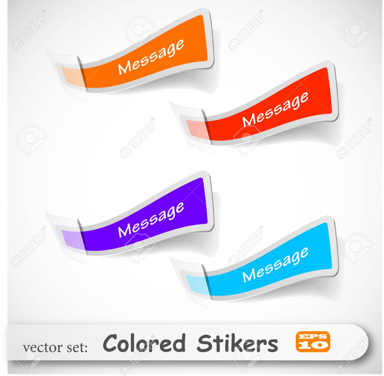 the abstract colored sticker set Stock Vector - 8982914