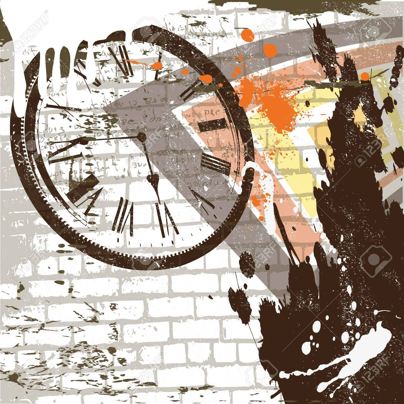 the abstract grunge wall background Stock Vector - 10476009