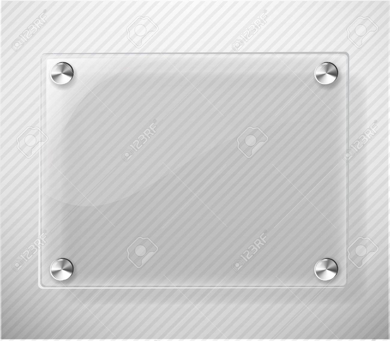 glass plate on white background stock vector 10697065