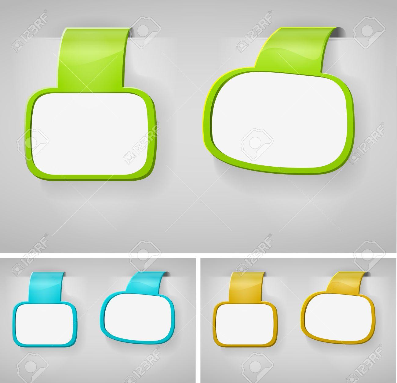 Color Blank Banner Display Template Set For Design Work  - Vector Illustration Stock Vector - 12201913