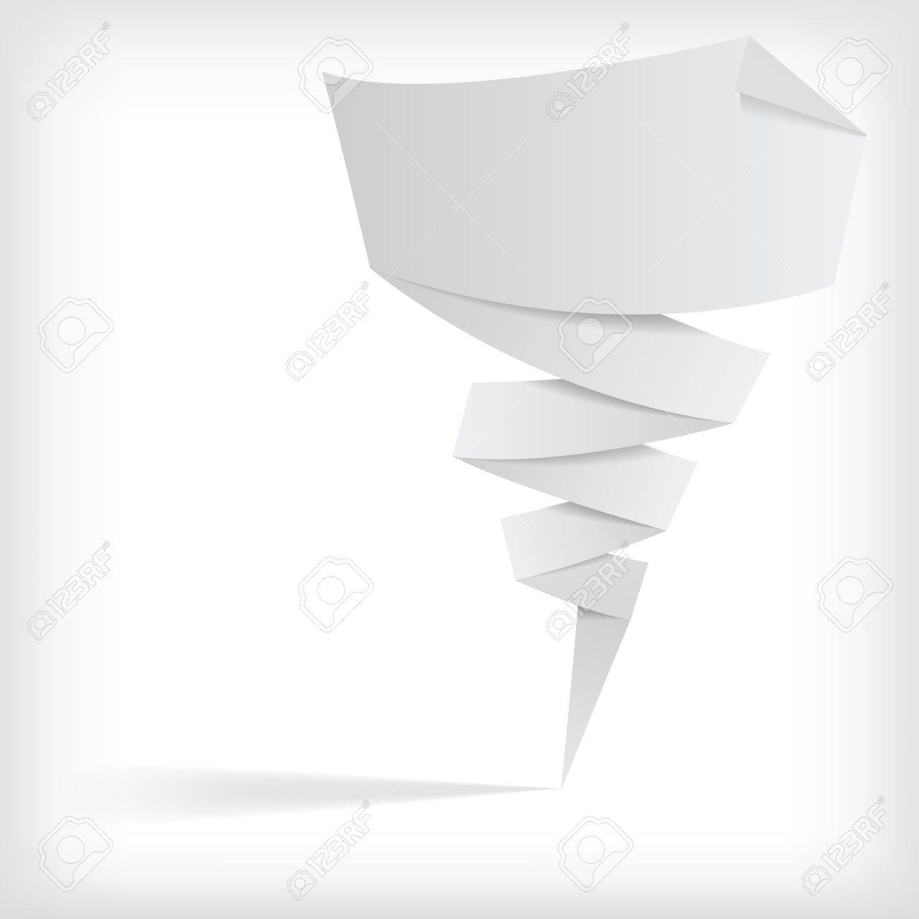 the vector abstract white origami banner Stock Vector - 12494713