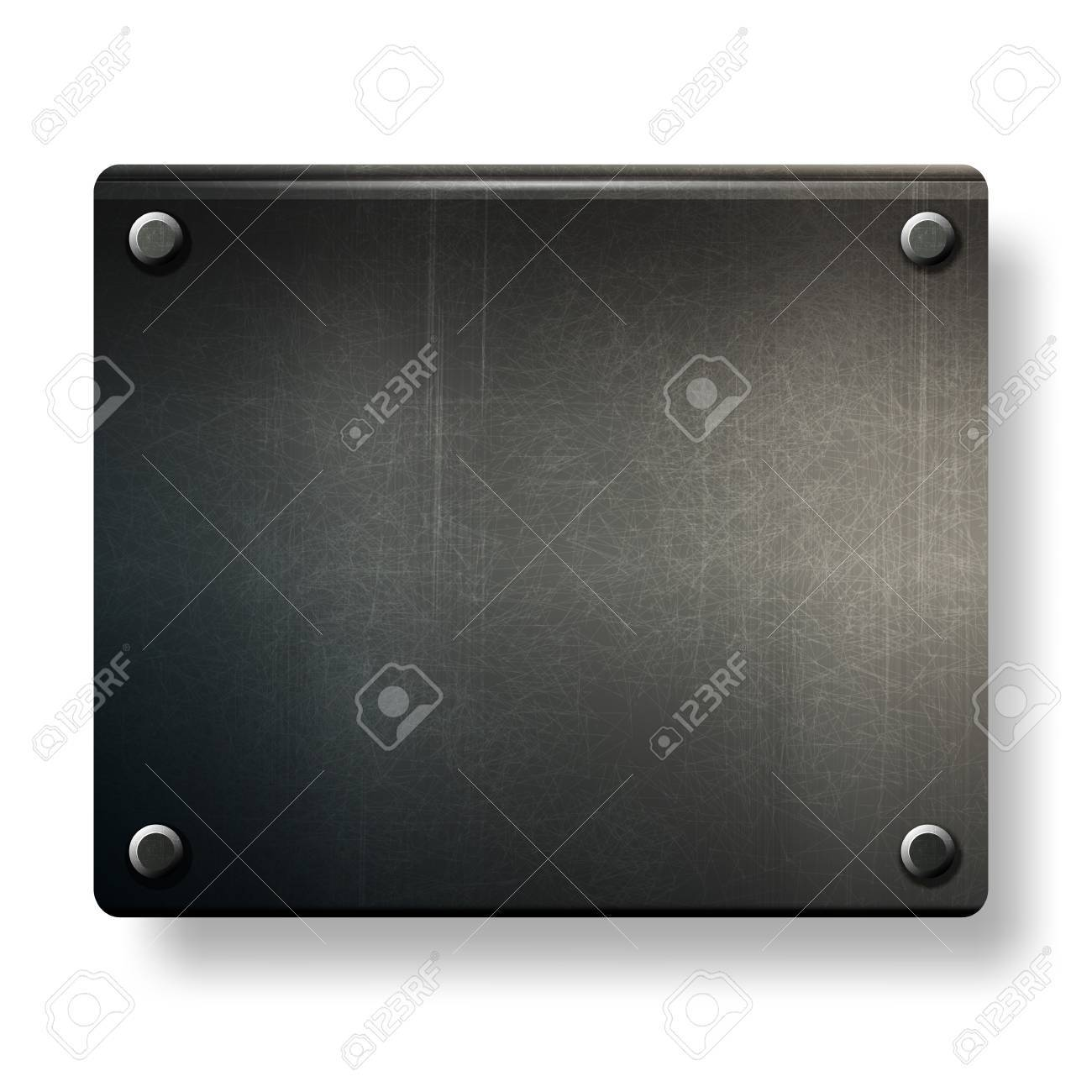 vector grunge background  metal plate with screws eps 10 Stock Vector - 12496587