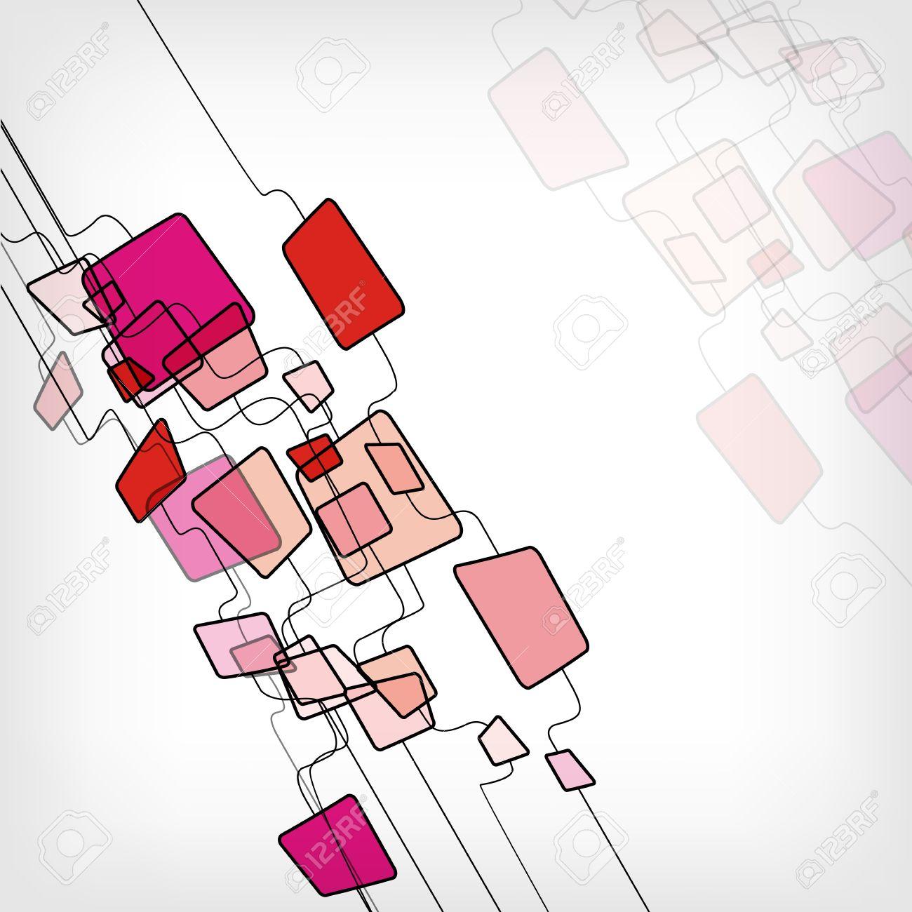 Retro Abstract Design Colorful Square Template - vector illustration Stock Vector - 12902605