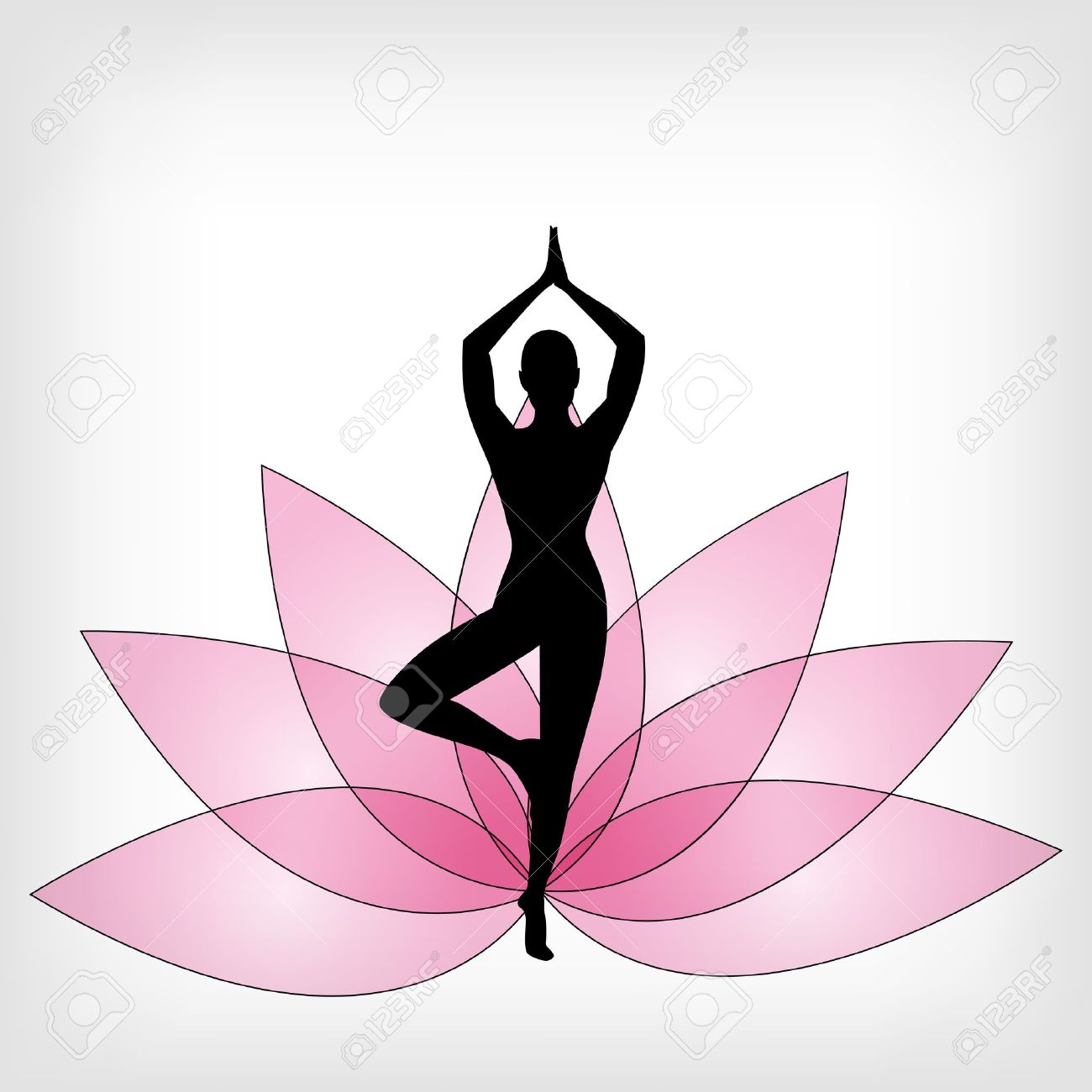 abstract yoga background - vector illustration Stock Vector - 13107400