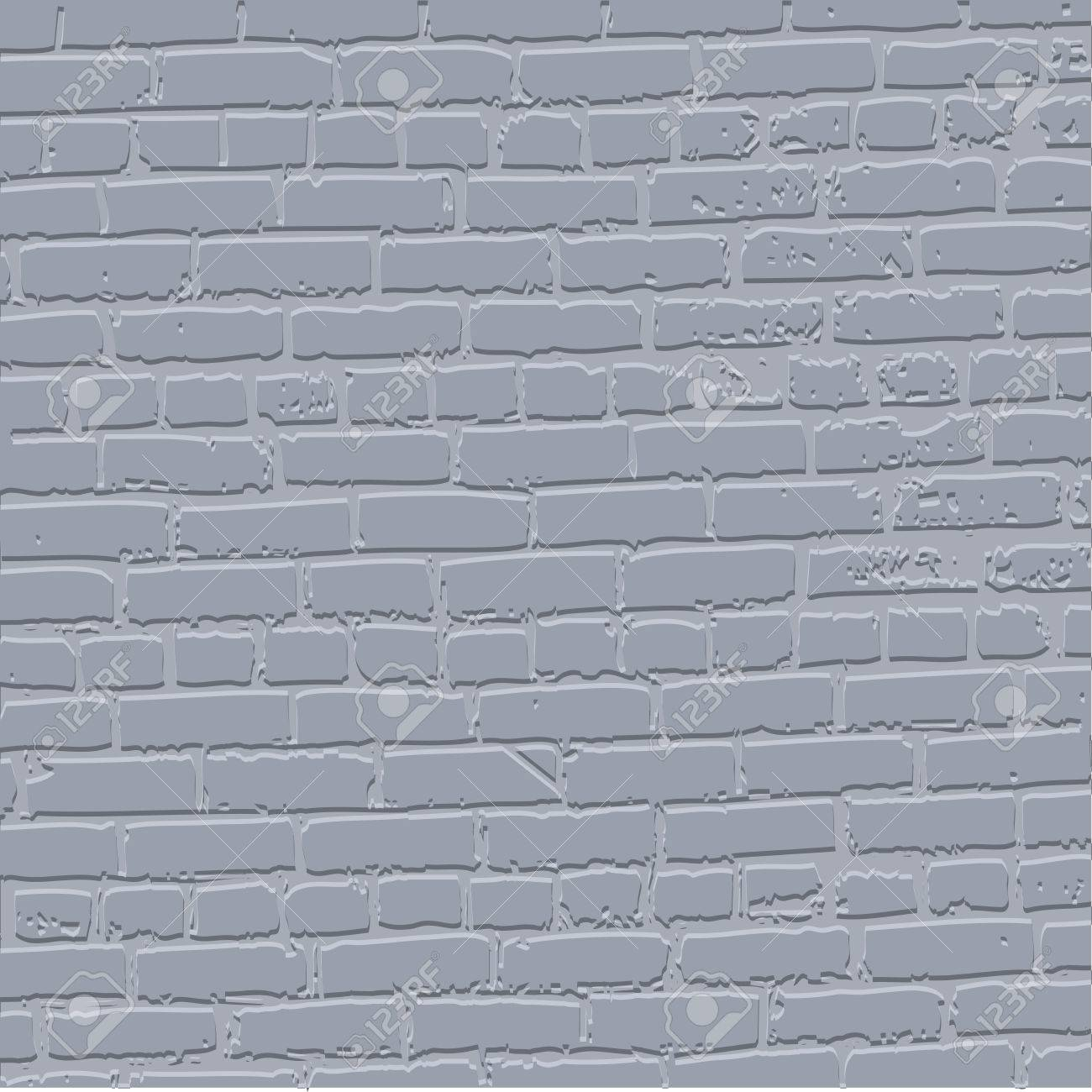 Grey grunge bricked wall background - vector illustration Stock Vector - 13107456