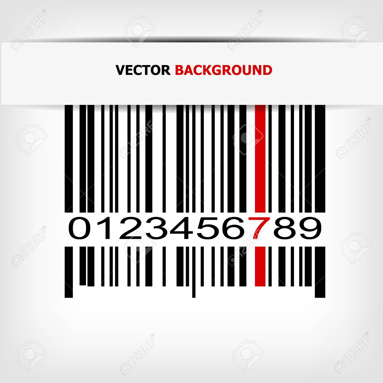 Barcode image with red strip Stock Vector - 14030502