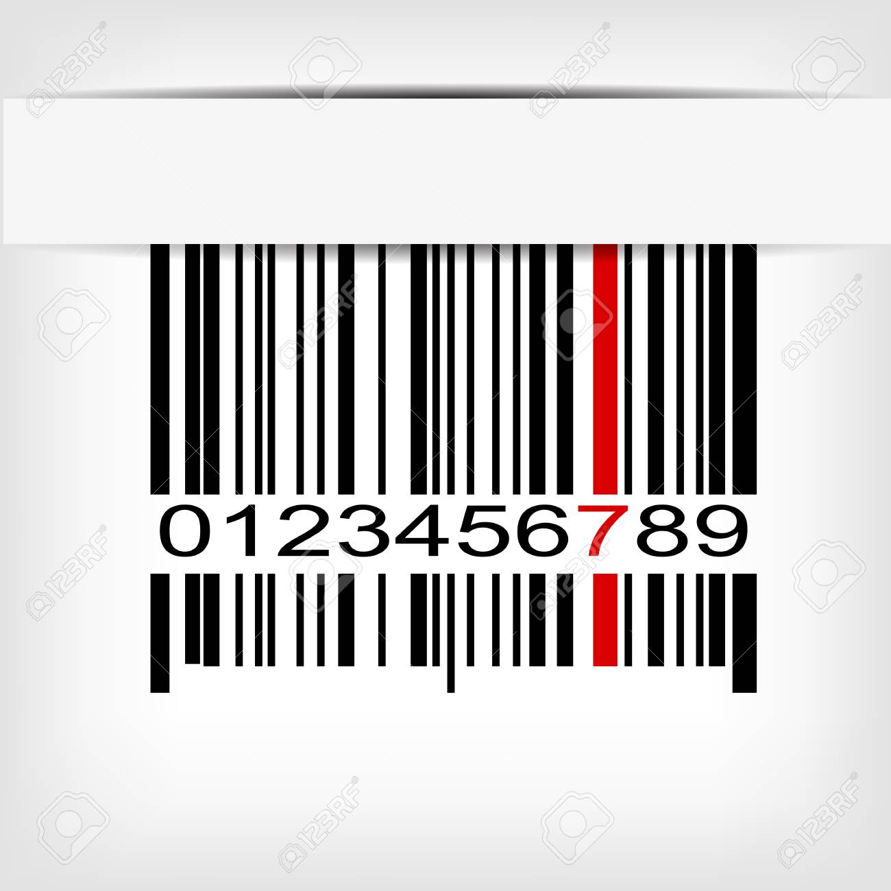 Barcode image with red strip -  illustration Stock Vector - 15727215