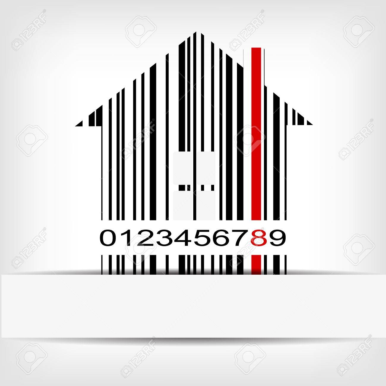 Barcode image with red strip - vector illustration Stock Vector - 15727212