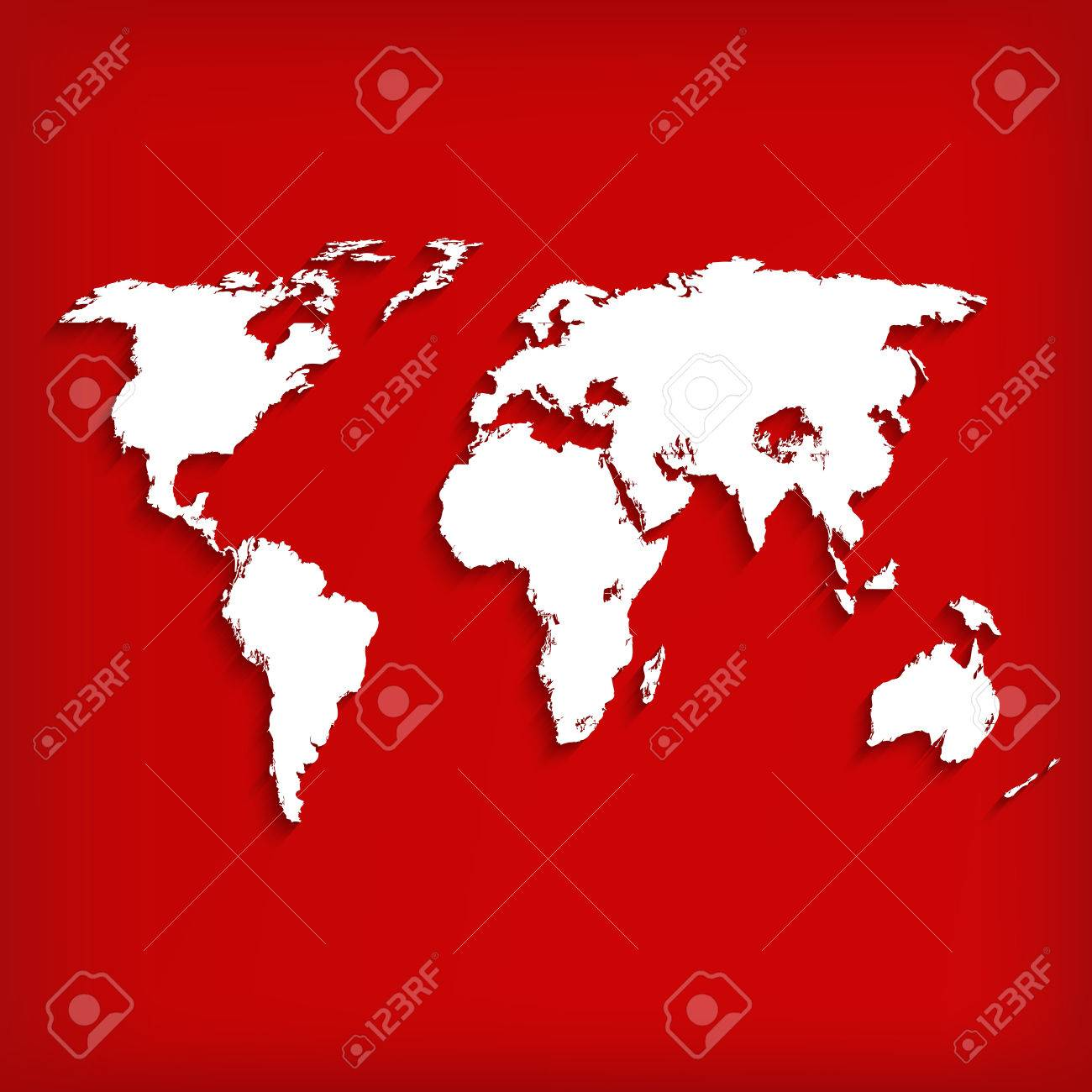 Abstract background with world map on red vector illustration abstract background with world map on red vector illustration stock vector 26076888 gumiabroncs Choice Image
