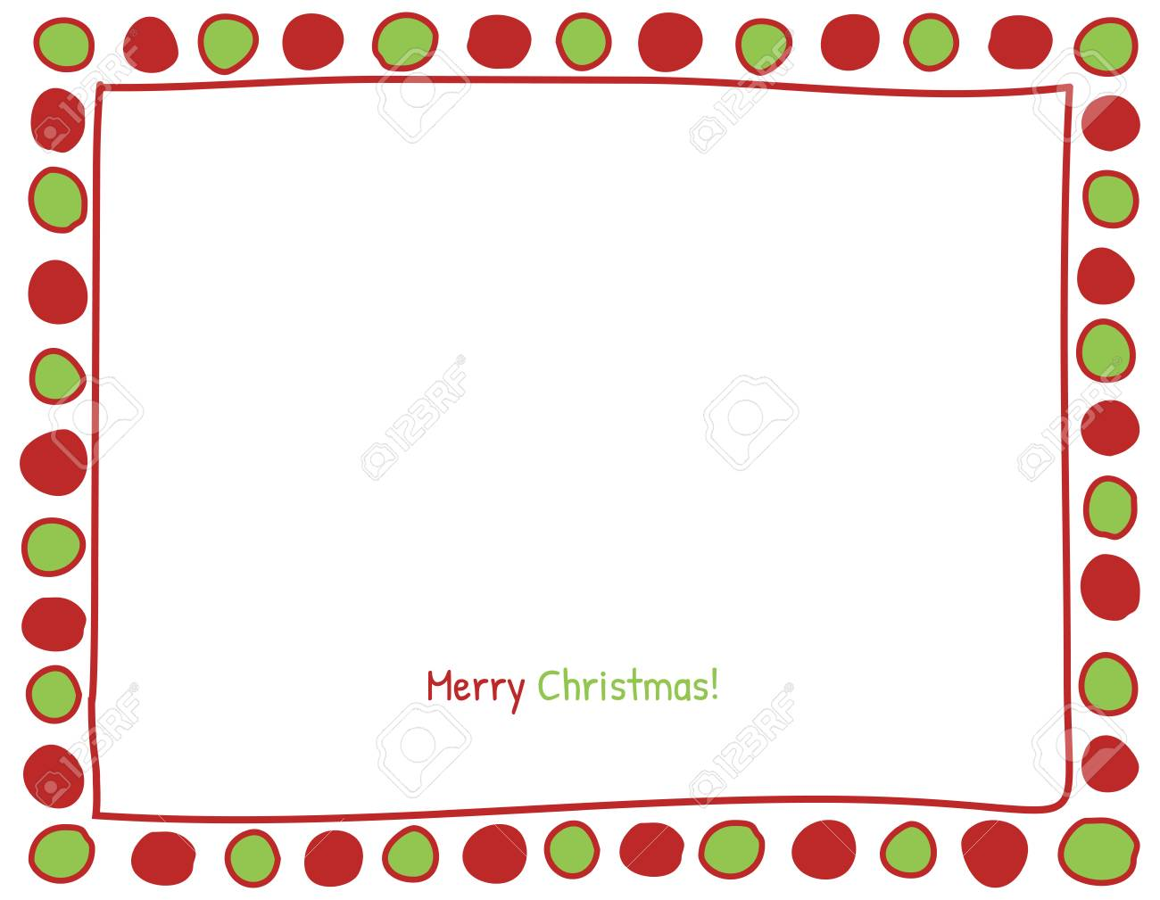 Weihnachten Rot Und Grün-Kreis-Hintergrund. Foto-Rahmen-Grenze ...