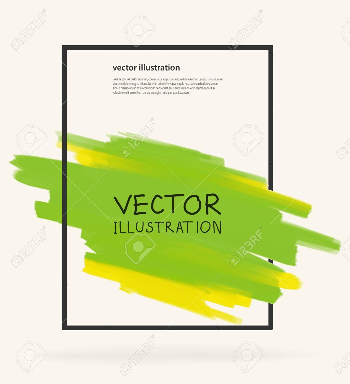 Plantillas De Diseño De Negocios Con Fondos Pintura Verde. Abstracta ...
