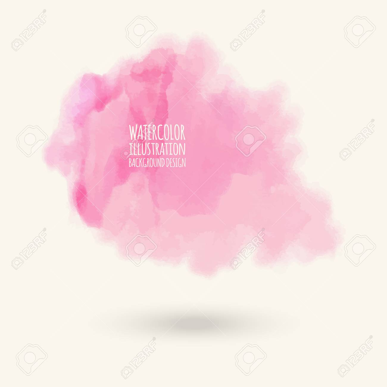 Vector pink brush strokes  Watercolor Grunge isolated elements