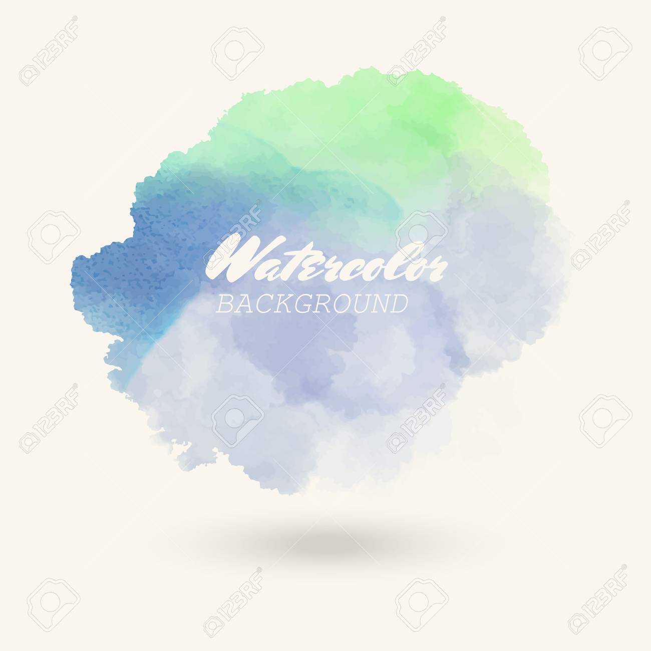 Color watercolor hand drawn isolated wash spot on white background