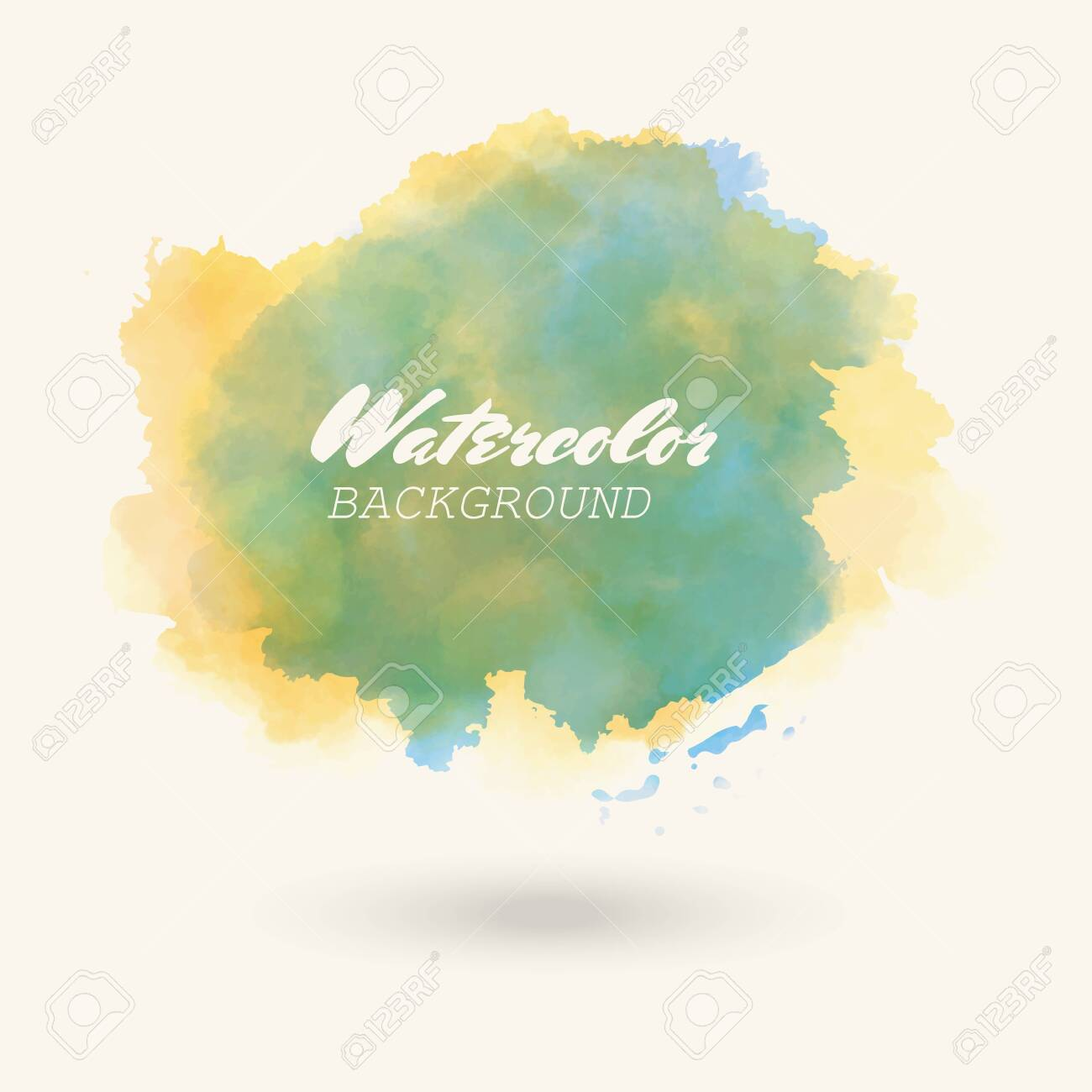 Vector color brush strokes  Watercolor Grunge isolated elements