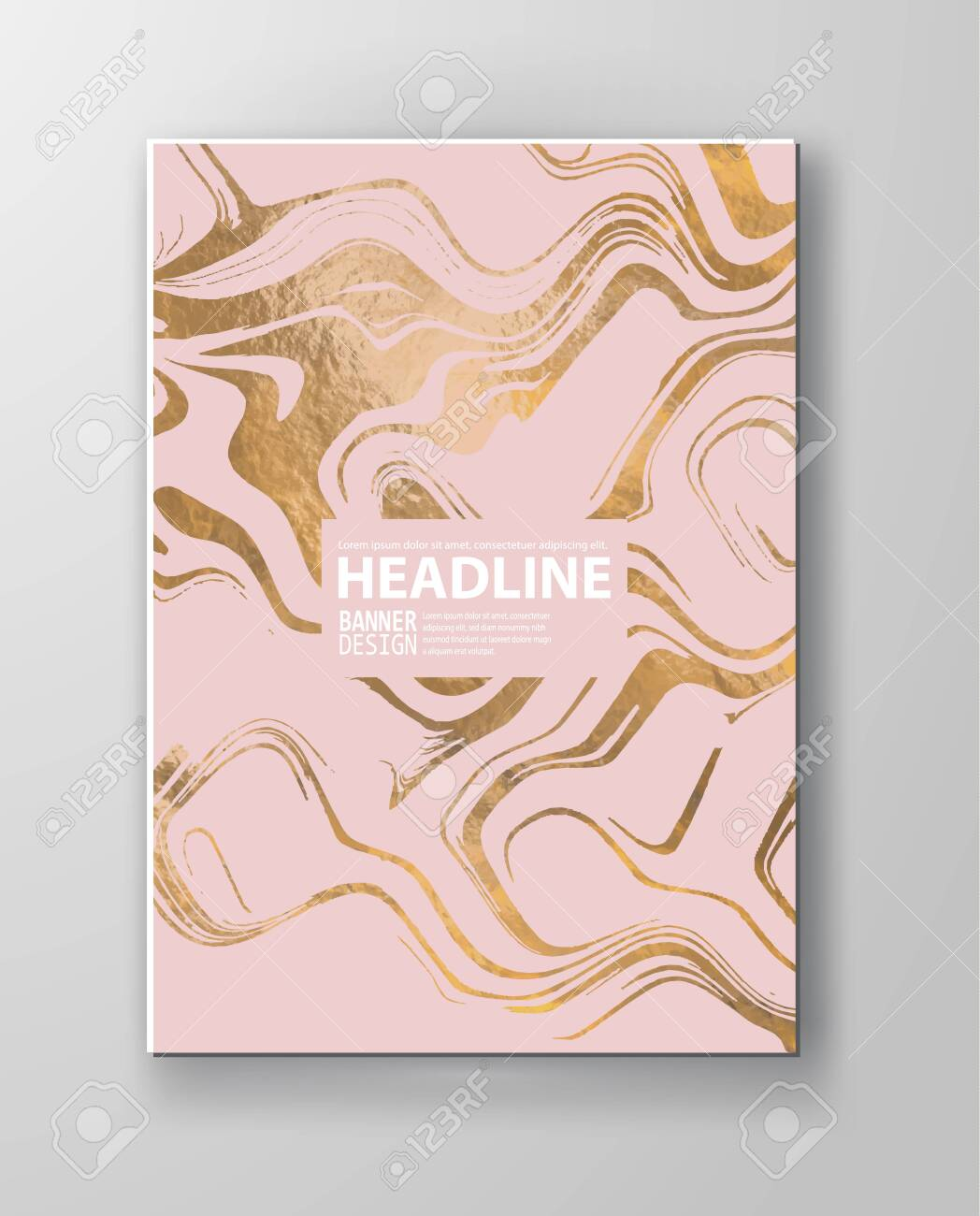 Gold And Pink Marbling Texture Design For Poster Brochure Invitation Royalty Free Cliparts Vectors And Stock Illustration Image 122489627