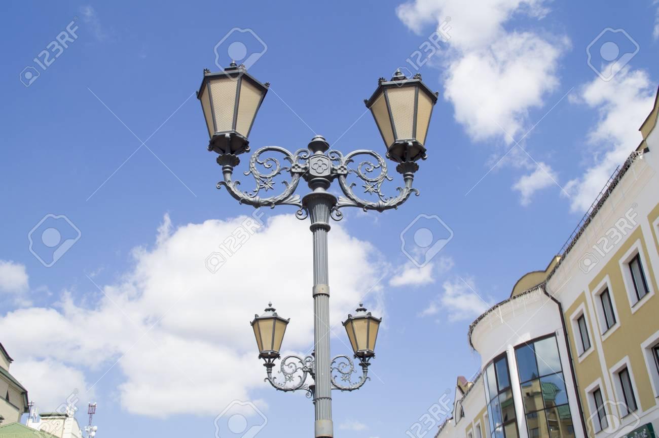 Illuminazione Con Lanterne : Illuminazione stradale lanterna con stile del ° secolo su uno