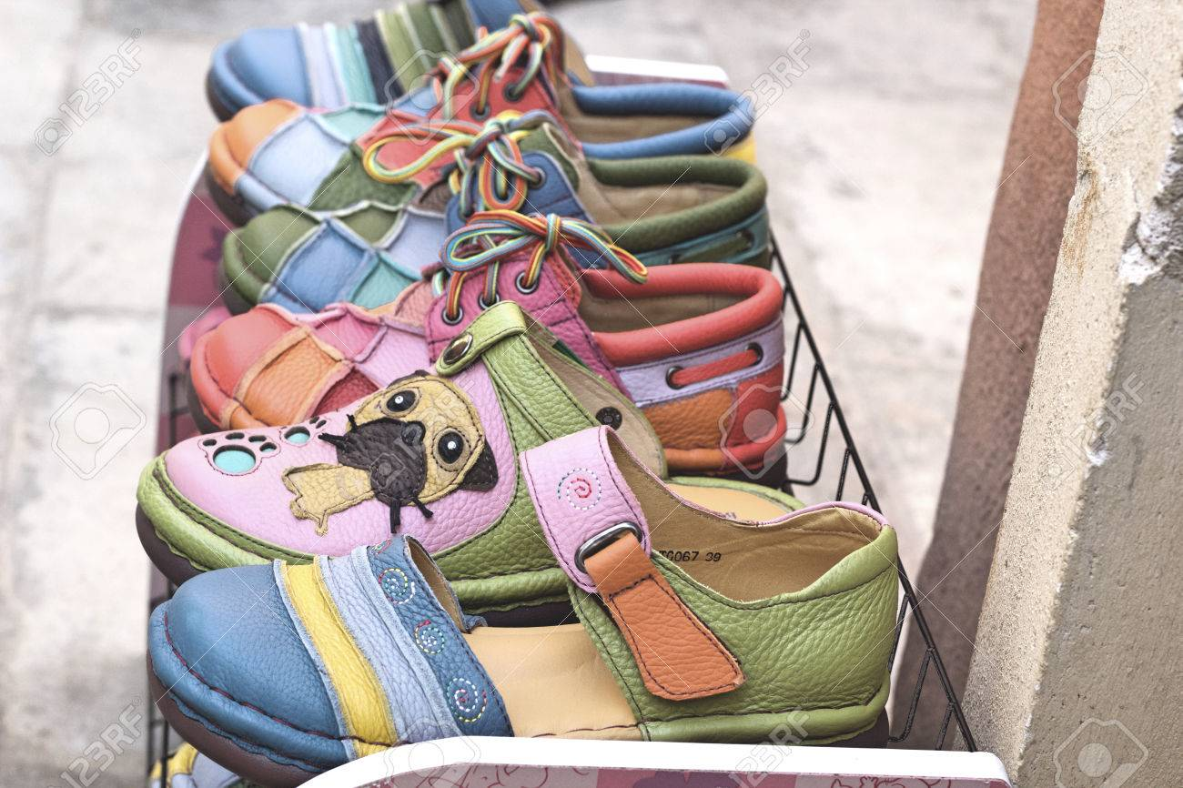 b336311f50f5 Leather moroccan shoes for sale Stock Photo - 34953030