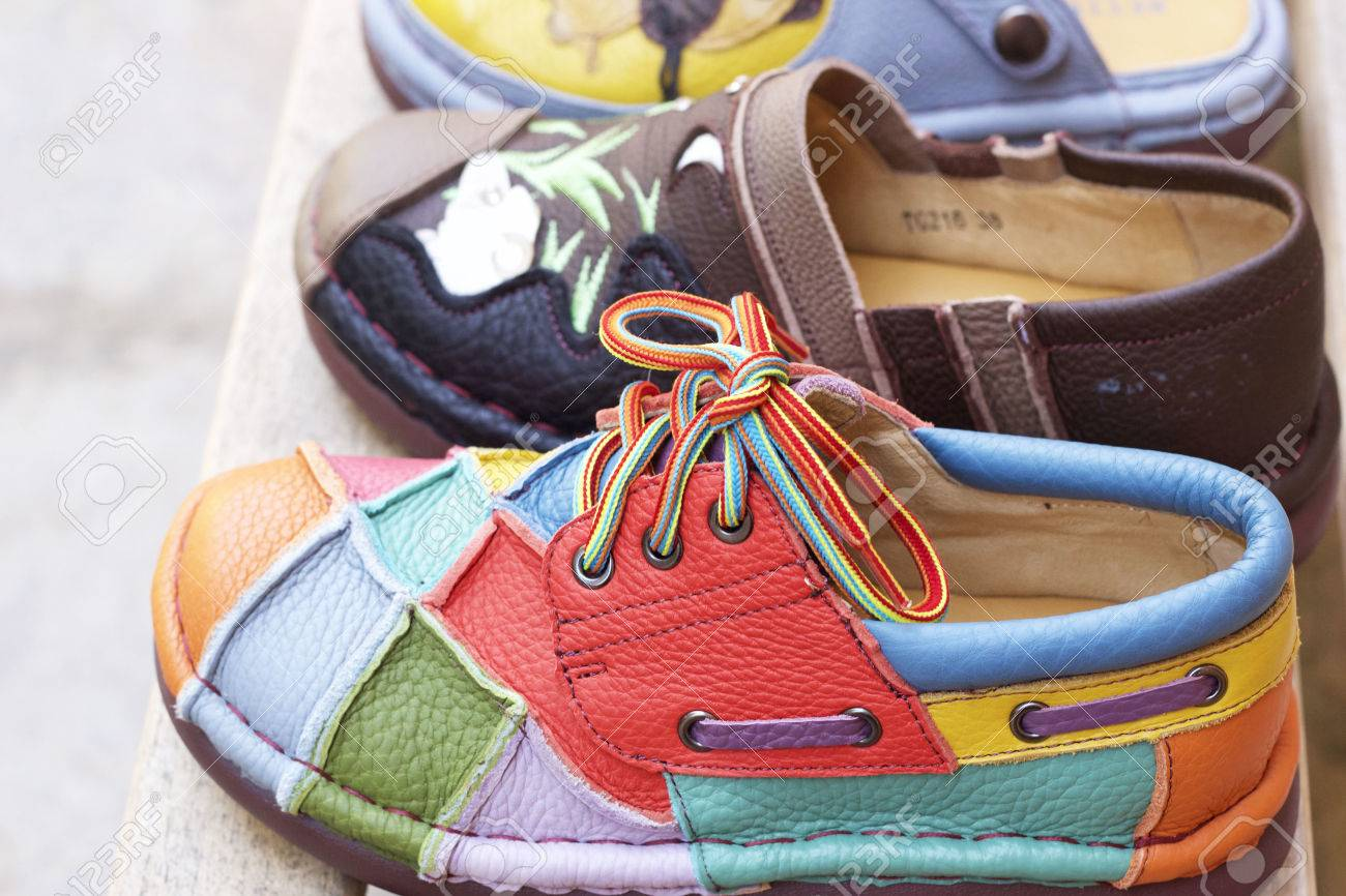02a46a72c484 Leather moroccan shoes for sale Stock Photo - 35693651