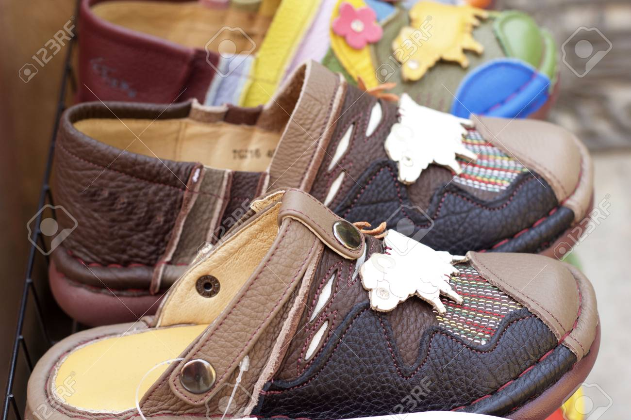 bdbb508c9bb9 Leather moroccan shoes for sale Stock Photo - 37061315