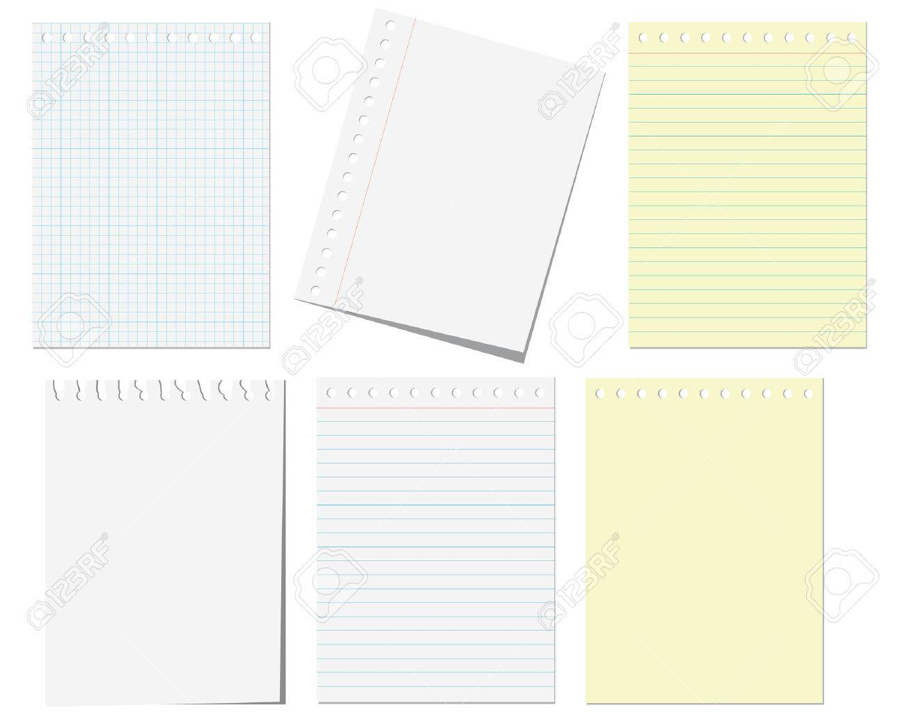 Isolated pages of notebook on the white Stock Vector - 4580114