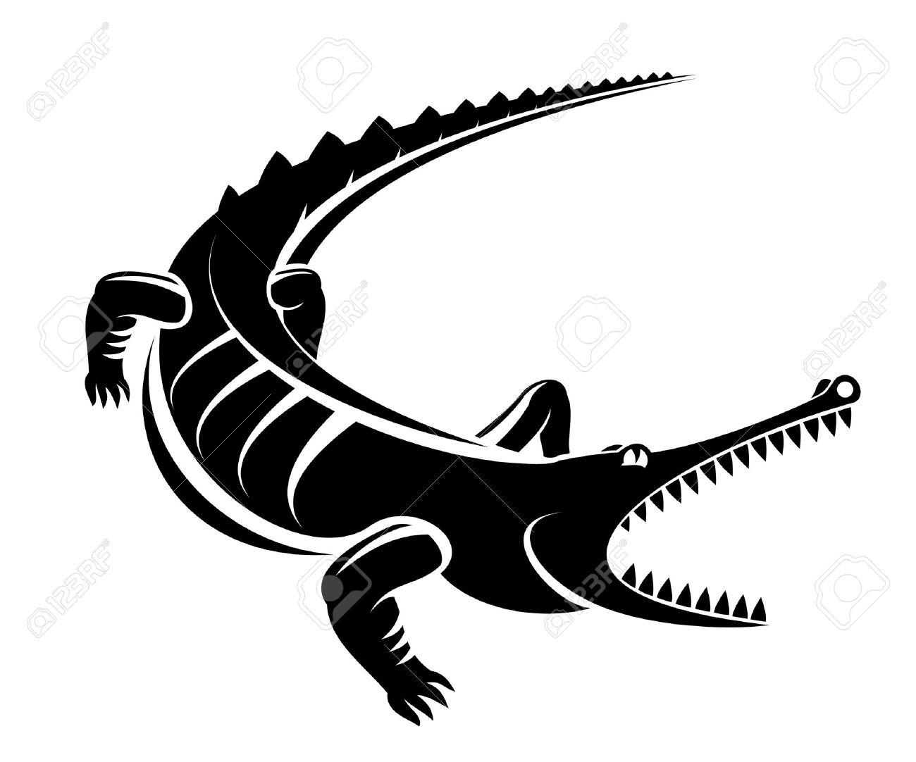 Isolated Shape Of Crocodile As A Mascot Stock Vector