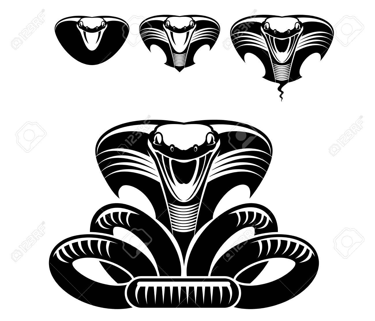 Isolated snakes as a sign or mascot Stock Vector - 5324352