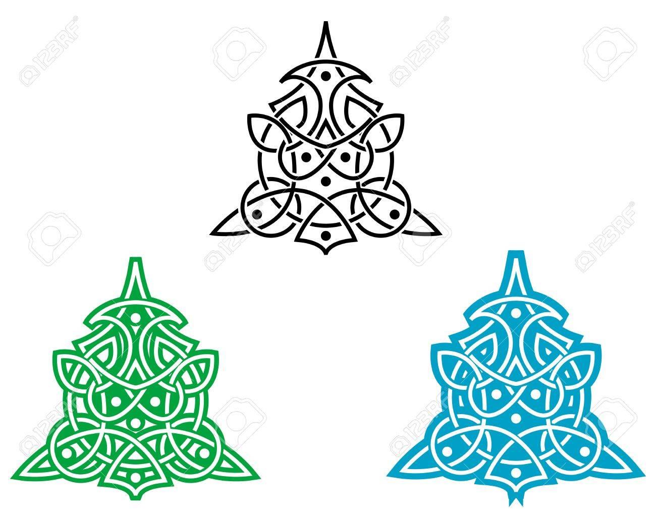 Celtic ornament for design isolated on white Stock Vector - 5498631