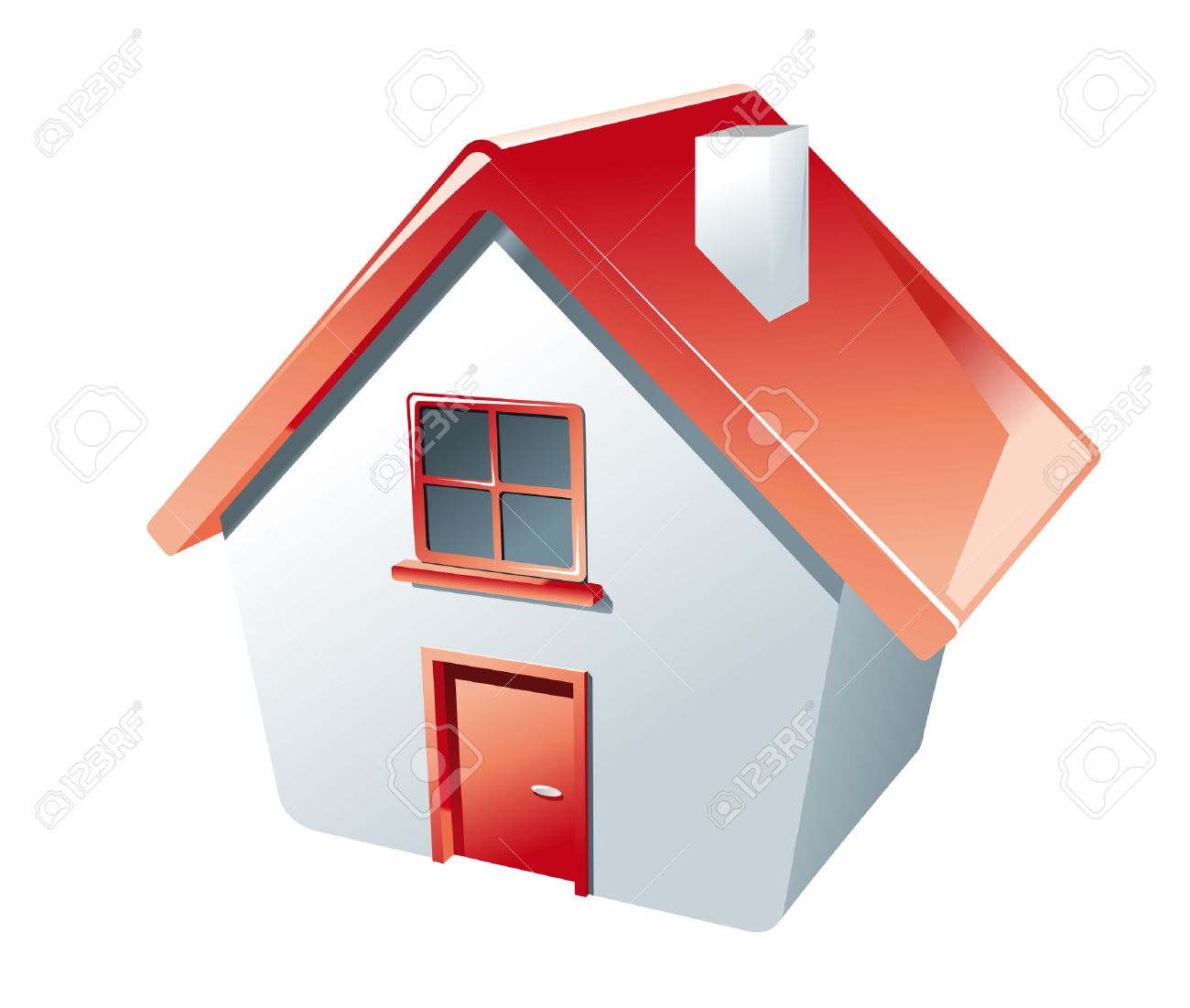 House icon isolated on white as a symbol of real estate Stock Vector - 5498636