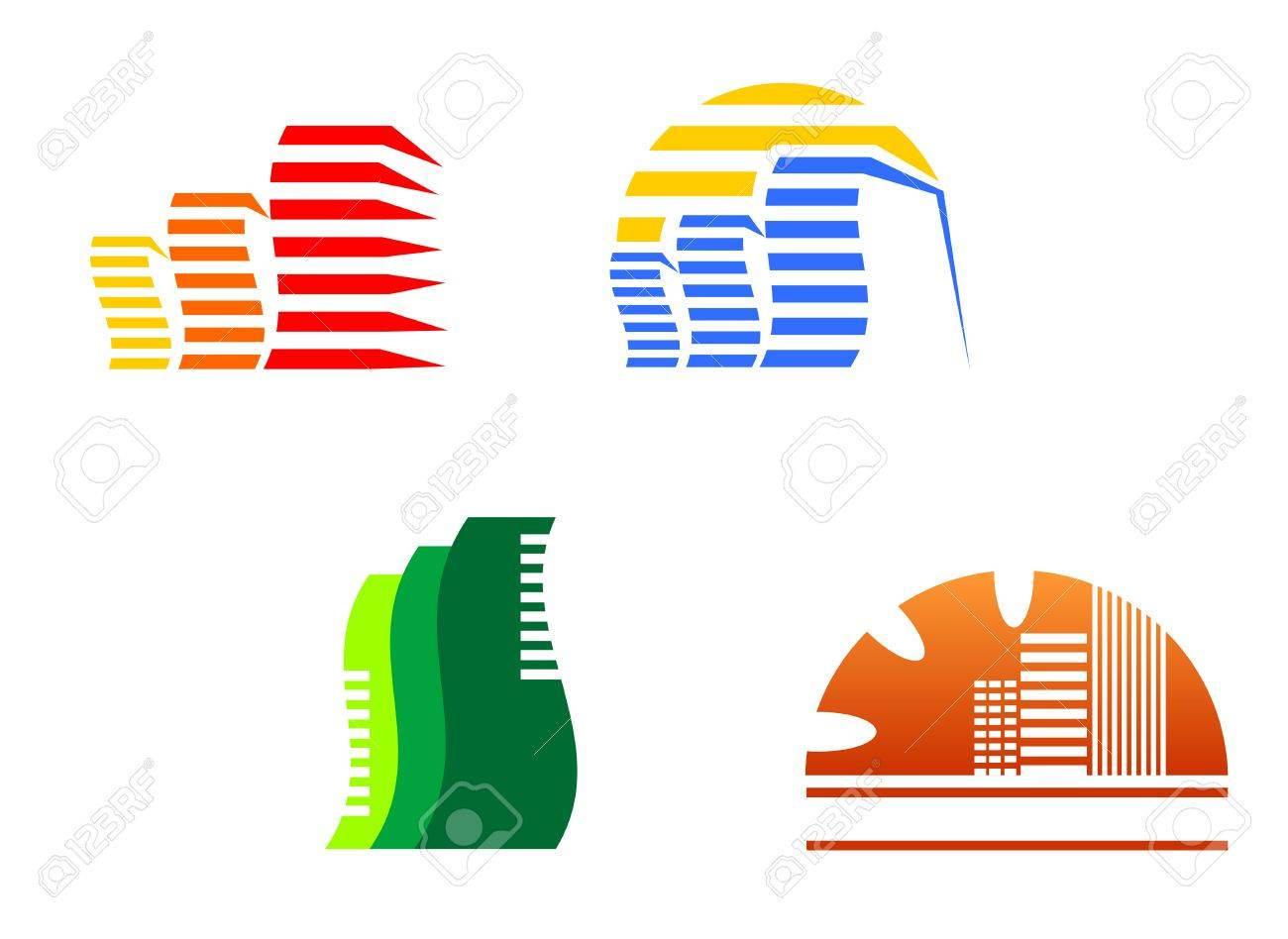 Real estate symbols for design and decorate Stock Vector - 5568143