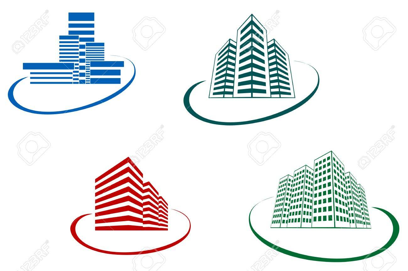 Symbols of modern and ancient buildings for design Stock Vector - 5778677