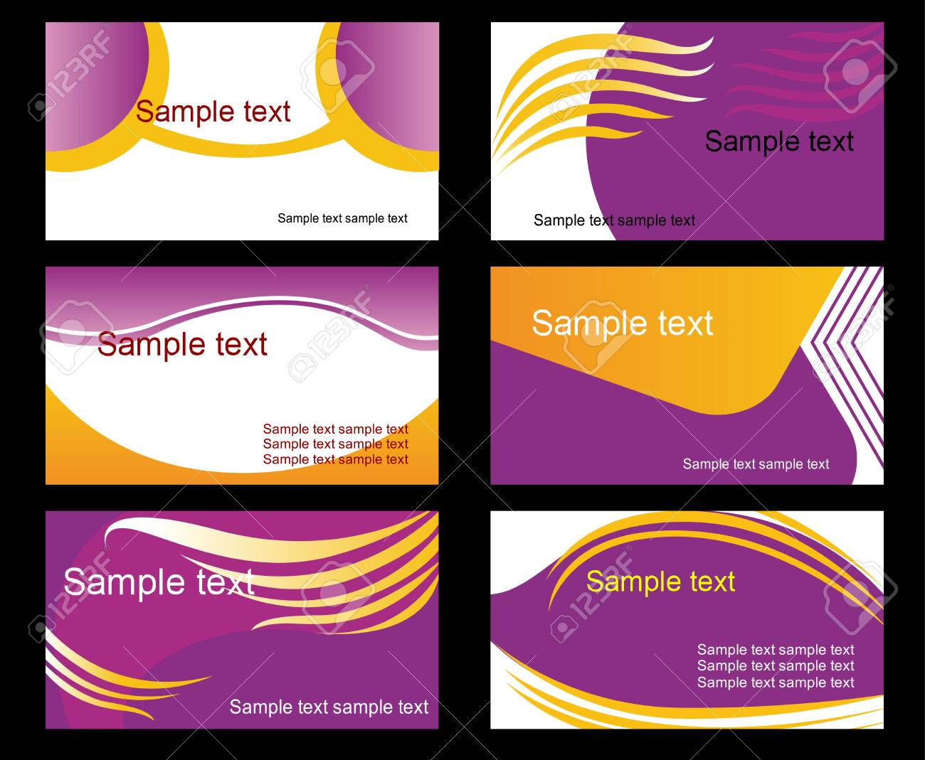 Set of business cards isolated on background Stock Vector - 5917836