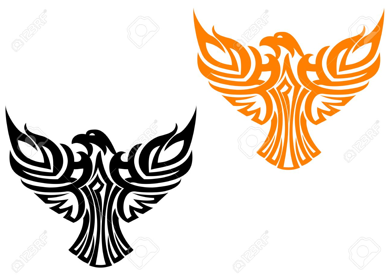 Beautiful american eagle symbol isolated on white Stock Vector - 5962193