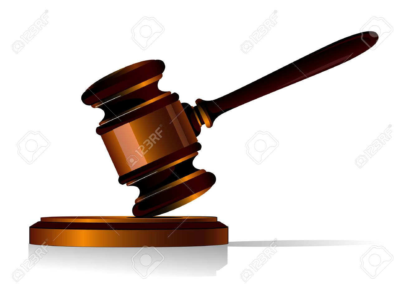 Gavel symbol as a concept of law or auction Stock Vector - 6067034