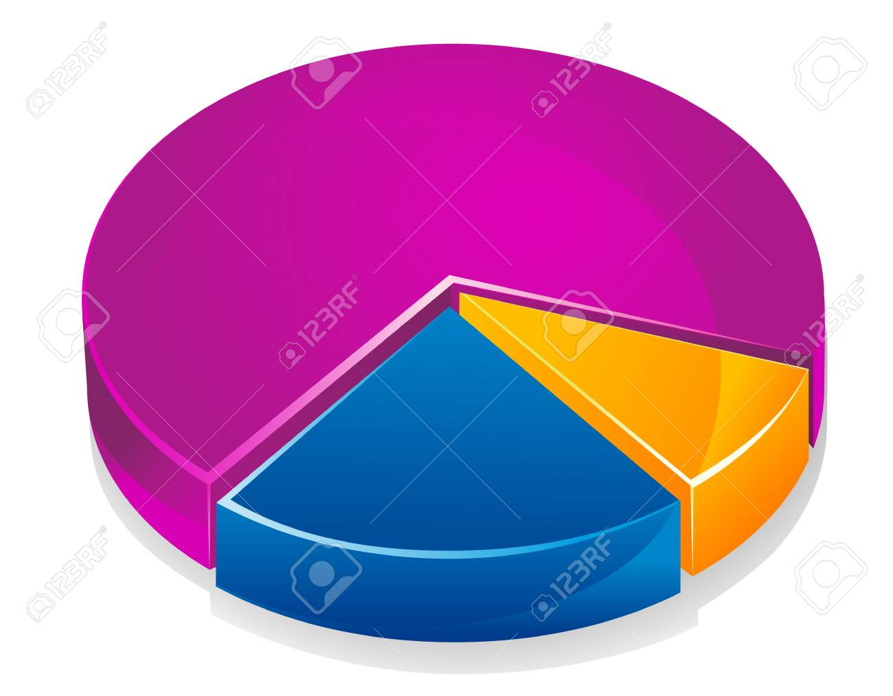 Color graph for design and business concept Stock Vector - 6167952