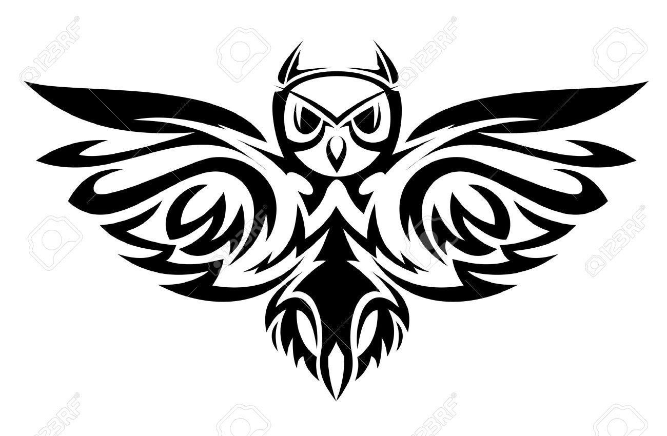 La Chouette Symbole symbole de la chouette noir isolé sur fond blanc comme un concept de