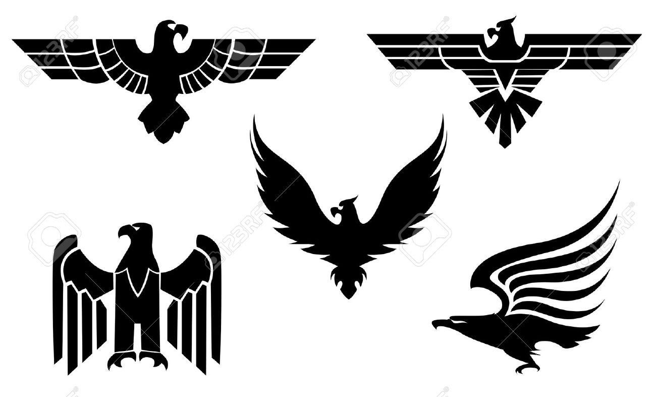 American eagle symbol tattoo images for tatouage american eagle symbol tattoo within eagle symbol isolated on white for tattoo design royalty free biocorpaavc Gallery