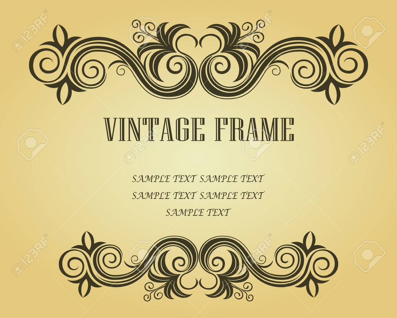Vintage frame in victorian style for ornate and design Stock Vector - 6497360