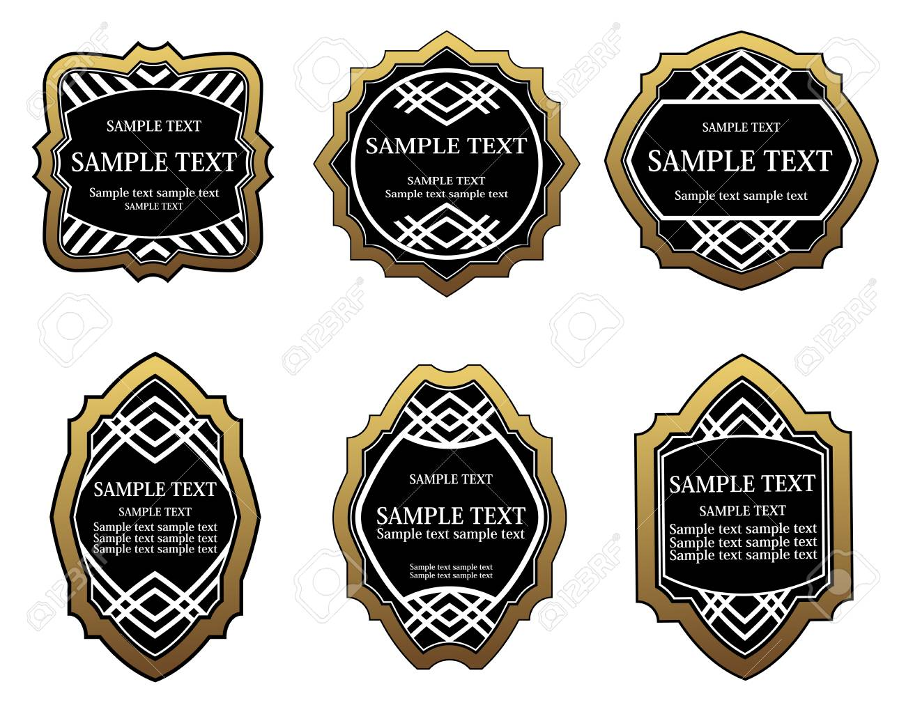 Set of golden labels for design food and beverages Stock Vector - 6554182