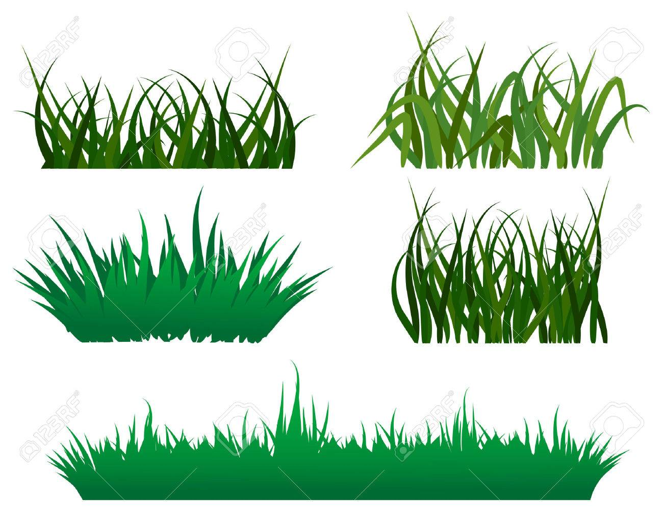 Green grass elements for design and decorate Stock Vector - 6554179