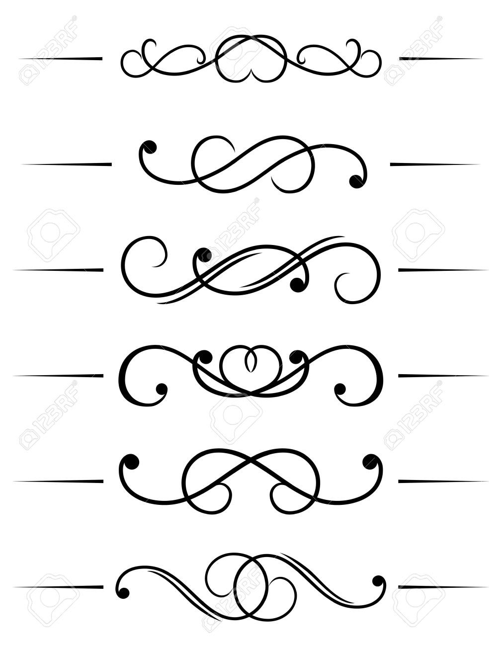 Swirl Elements And Monograms For Design And Decorate Stock Vector 6554221