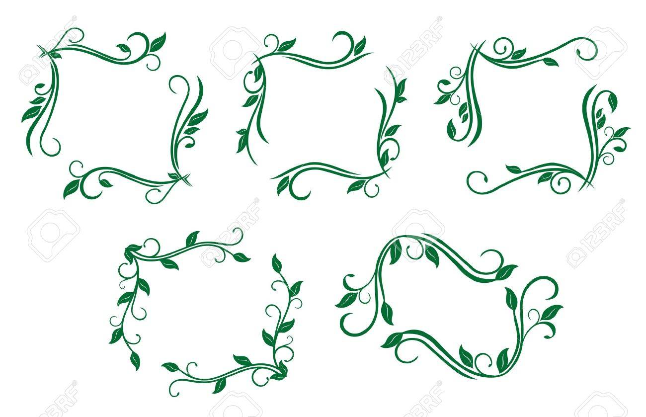 Antique vintage frames isolated on white for design Stock Vector - 6554229