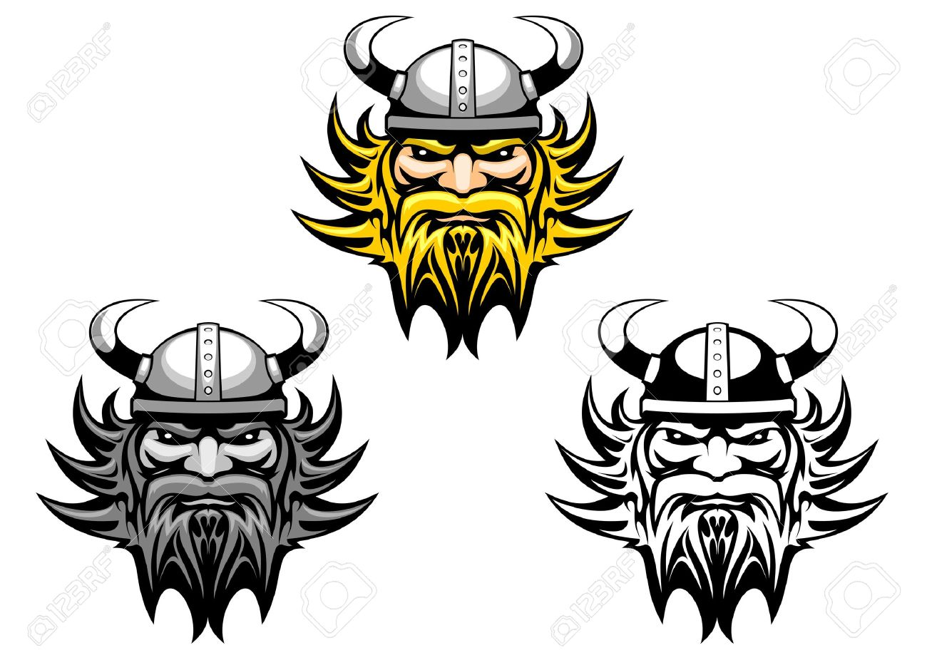 Ancient angry viking warrior as a mascot or tattoo Stock Vector - 6696954