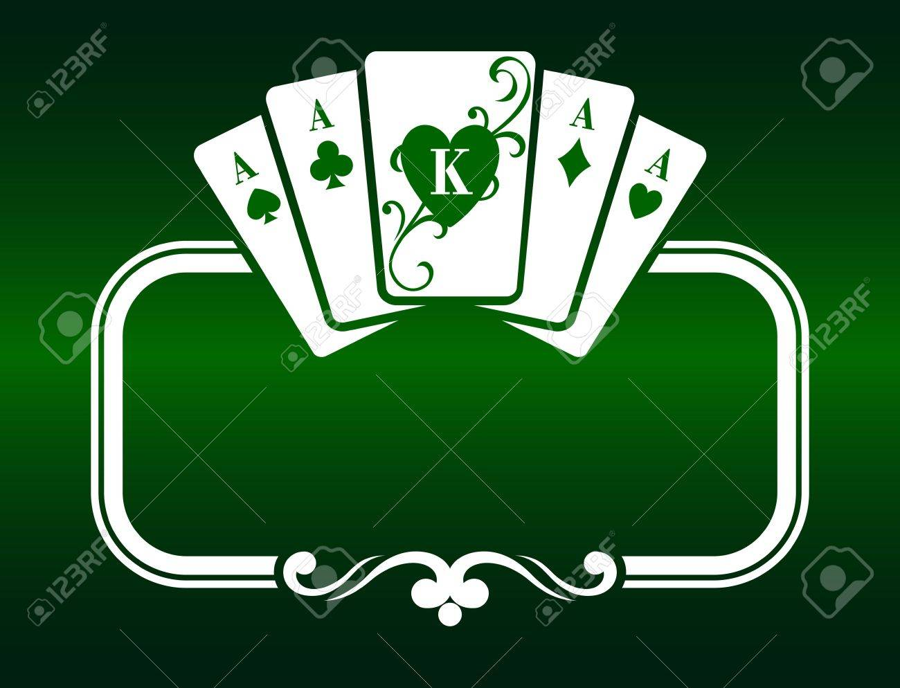 Poker frame with cards as a symbol of luck Stock Vector - 6696946