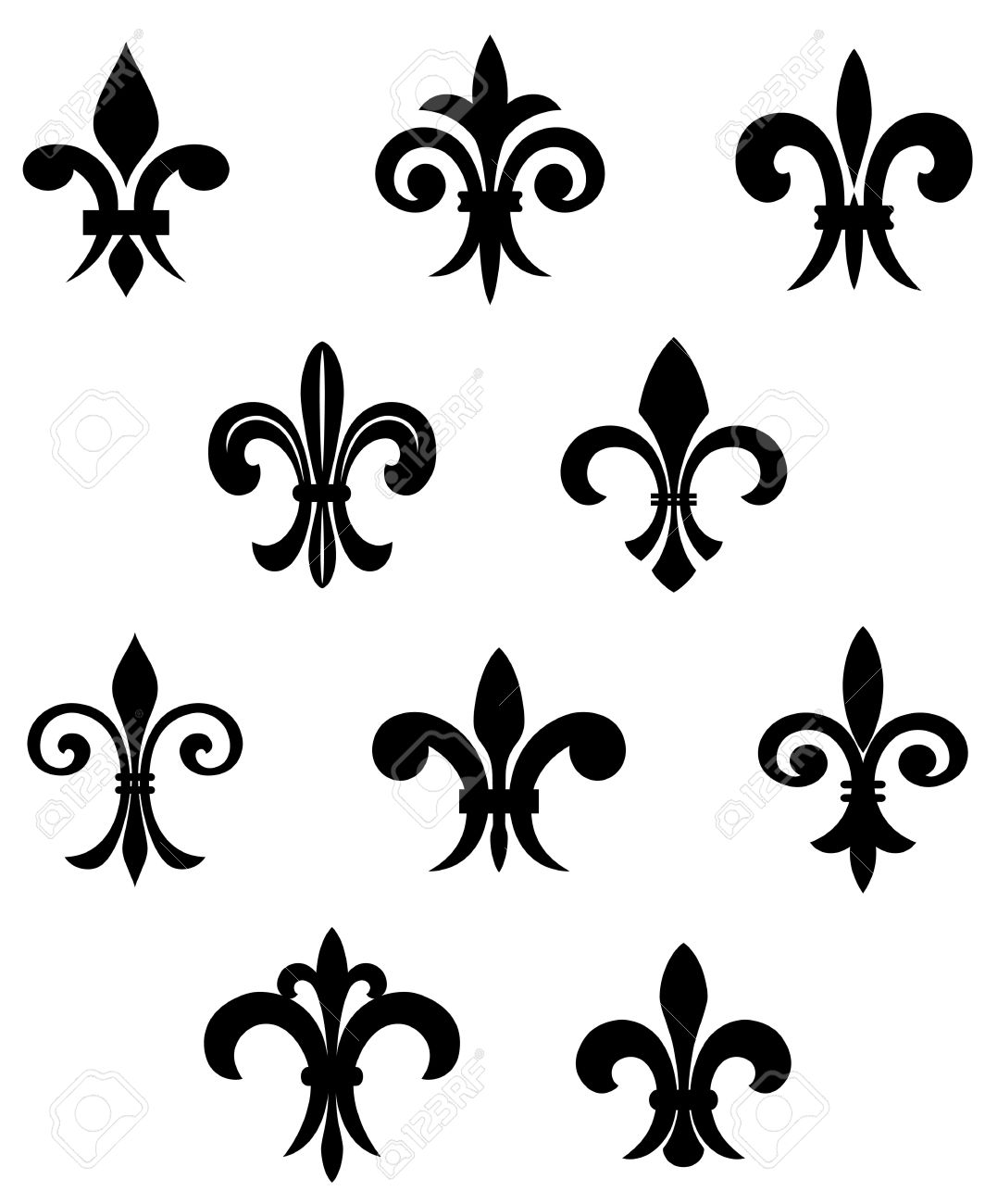 Royal french lily symbols for design and decorate Stock Vector - 6725420