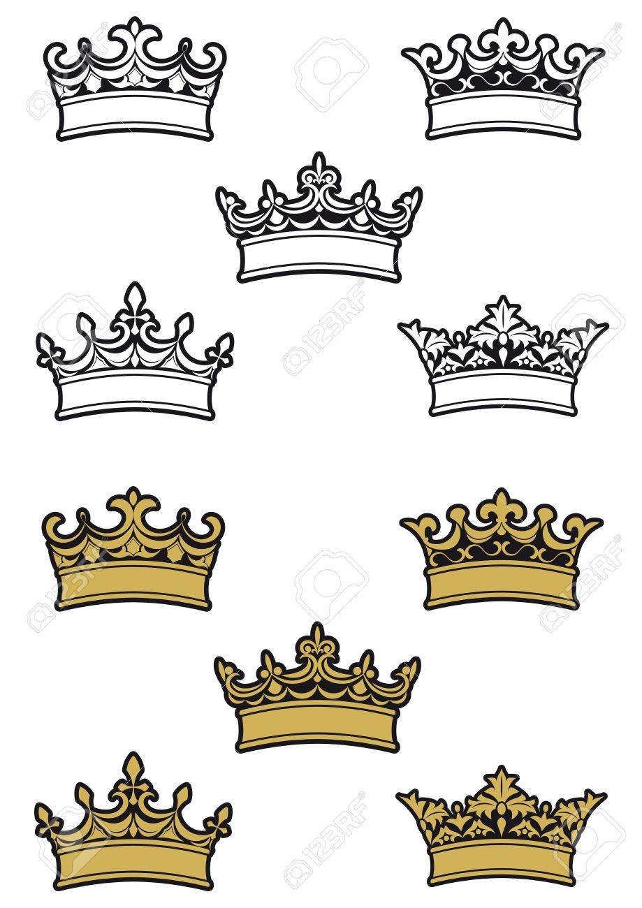 Heraldic crowns and diadems for design and decorate Stock Vector - 6725445
