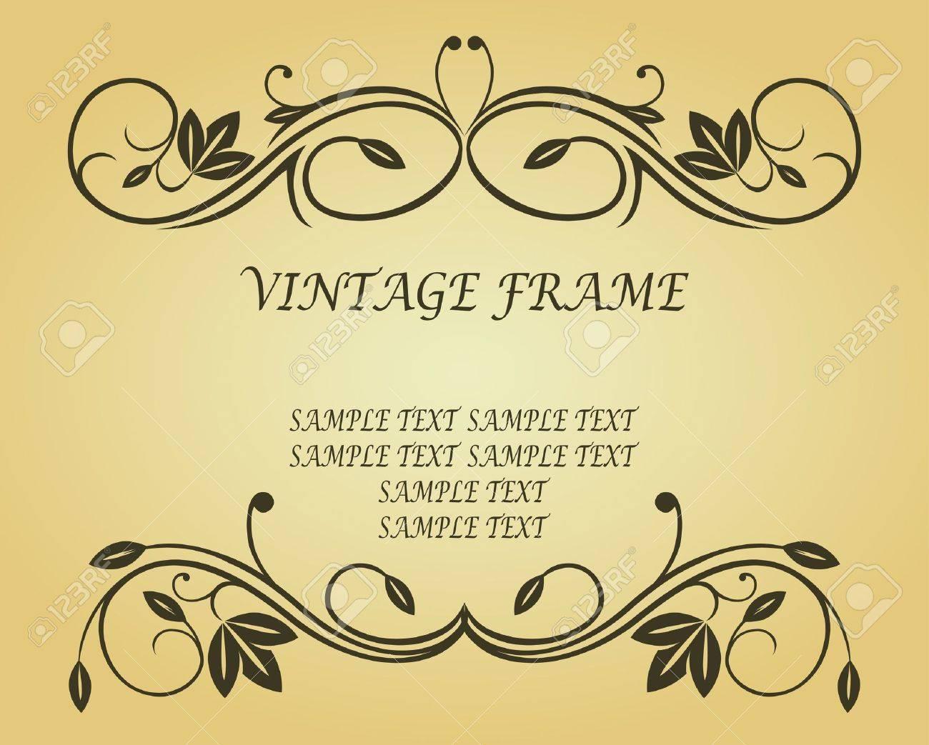 Antique vintage frame on background for design Stock Vector - 6827192