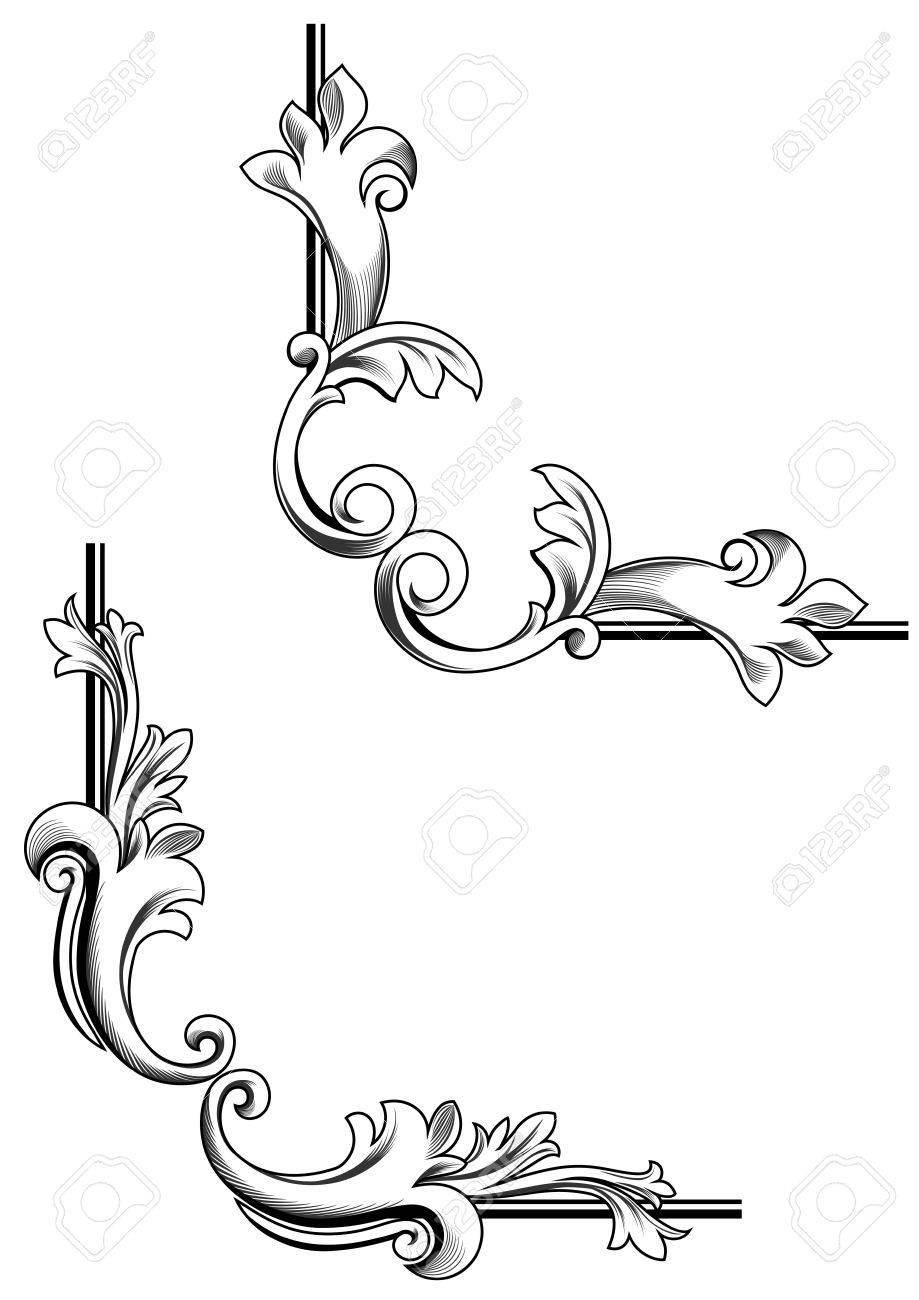 Swirl Elements And Monograms For Design And Decorate Stock Vector 6960996