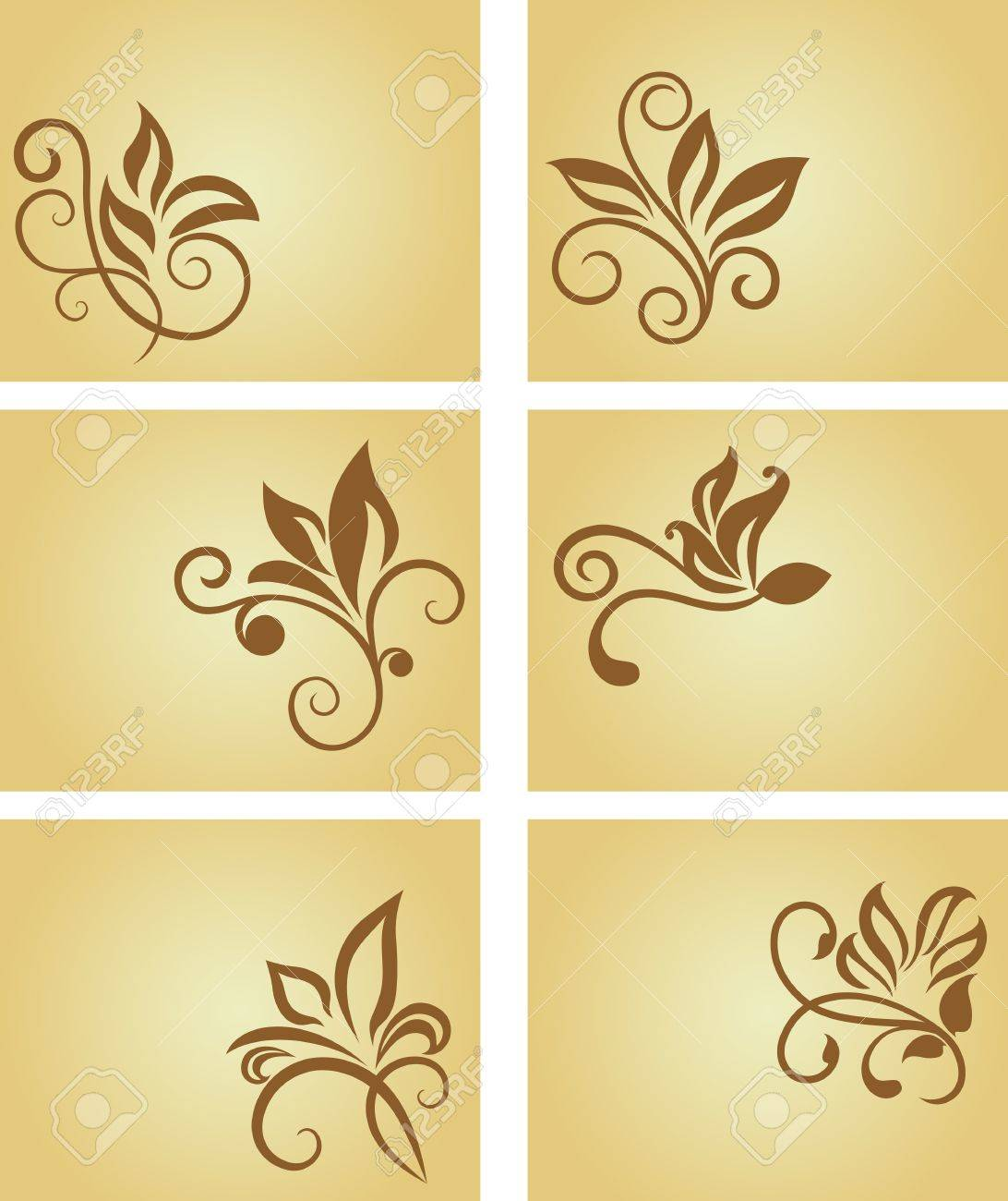 Set of business cards in vintage style for design Stock Vector - 7040775